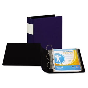 Dxl Heavy duty Locking D ring Binder With Label Holder 4 Cap Dark Blue