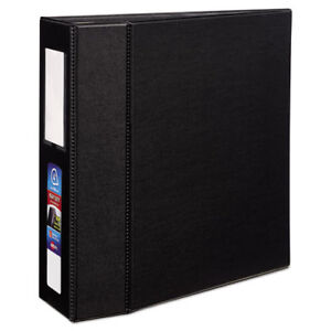 Heavy duty Binder With One Touch Ezd Rings 11 X 8 1 2 4 Capacity Black