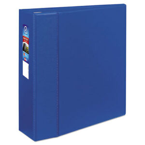 Heavy duty Binder With One Touch Ezd Rings 11 X 8 1 2 4 Capacity Blue