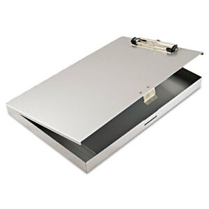 Tuffwriter Recycled Aluminum Storage Clipboard 1 2 Clip 8 1 2 X 12 Gray