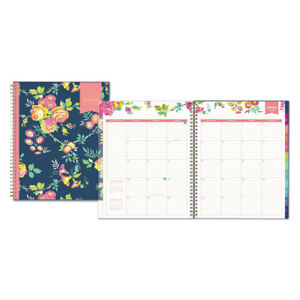 Day Designer Cyo Weekly monthly Planner 8 1 2 X 11 Navy floral 2019