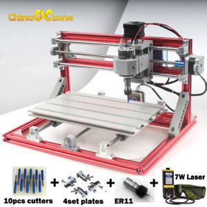 Cnc 3018 Engraving Router 7w Laser Module Carving Milling Diy Laser Machine
