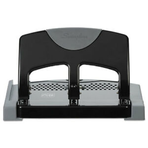 45 sheet Smarttouch Three hole Punch 9 32 Holes Black gray
