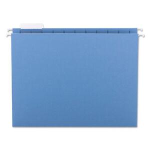Hanging File Folders 1 5 Tab 11 Point Stock Letter Blue 25 box