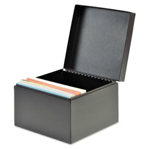 Index Card File Holds 500 4 X 6 Cards Black