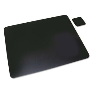 Leather Desk Pad W coaster 20 X 36 Black