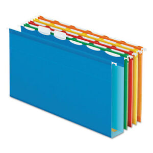 Ready tab Hanging File Folders 2 Capacity 1 6 Tab Legal Assorted 20 box