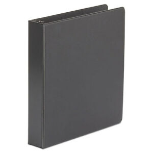 Economy Non view Round Ring Binder 1 1 2 Capacity Black 4 Per Pack