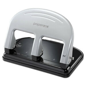 Inpress Three hole Punch 40 sheet Capacity Black silver