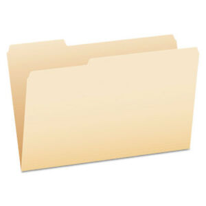 Manila File Folders 1 3 cut Tabs Legal Size 100 box