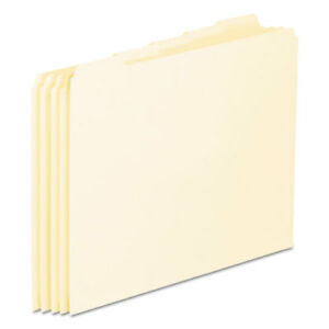 Top Tab File Guides Blank 1 5 Tab 18 Point Manila Letter 100 box
