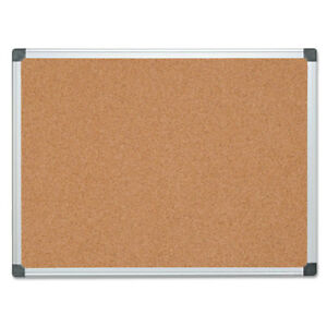 Value Cork Bulletin Board With Aluminum Frame 36 X 48 Natural