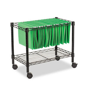 Single tier Rolling File Cart 24w X 14d X 21h Black