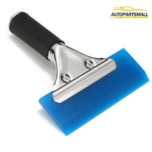 Rubber Squeegee W Handle Vinyl Window Glass Tint Wrapping Cleaning Car Tools Us