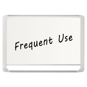 Lacquered Steel Magnetic Dry Erase Board 24 X 36 Silver white