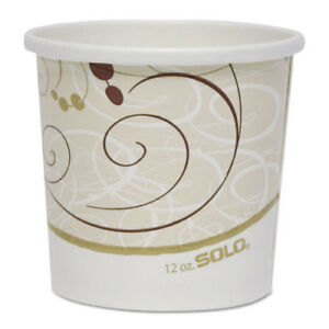 Double Poly Paper Food Containers 12 Oz Symphony Design 25 pack 20pack crtn