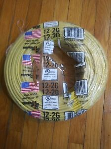 New Romex 12 2 250 Ft Yellow Cu Simpull Nm b Wire Electrical Residential