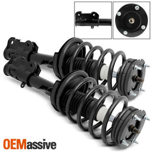 Fit 2005 2010 Ford Mustang Front Complete Struts Coil Springs Assembly W Mounts