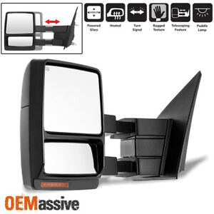 Fit 2007 2014 Ford F150 Driver Side Extendable Led Signal Power Towing Mirror