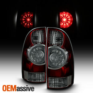 Black Smoked Fits 05 15 Toyota Tacoma Led Tail Lights Brake Lamps Replacement