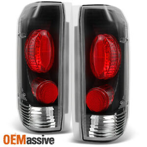 Fit 1989 1996 Ford Bronco F150 F250 F350 Black Tail Lights Lamps Replacement