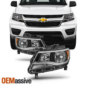 Fit 2015 2020 Chevy Colorado Halogen Models L R Side Headlights Headlamp