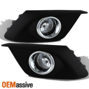 Fit 2014 2016 Mazda 3 Mazda3 4 5dr Bumper Fog Lights W Switch Bulbs Replacement