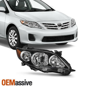 Fits 2011 2013 Toyota Corolla S Xrs Passenger Side Headlight Black Replacement