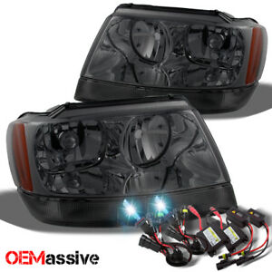 Fit 99 04 Jeep Grand Cherokee Replacement Smoke Headlights Ballast 8k Hid