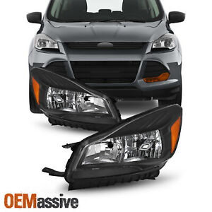 For 2013 2016 Ford Escape Halogen Headlights Side Left Right Lights 13 14 15 16