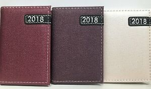 2018 Pocket Size Wooven Fashion Padded Cover Design Week To View Diary 3 Colours