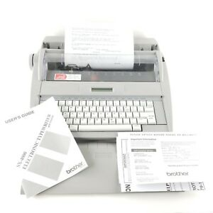 Brother Sx 4000 Electronic Typewriter Lcd Display W Dictionary Cover