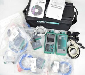 Fluke Microtest Omniscanner 2 Cat 6 Digital Analyzer W 17 Extra Cables