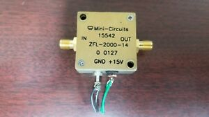 Mini circuits Zfl 2000 14 2ghz Microwave Amplifier