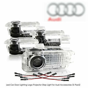 4 Audi Led Door Logo Light Projector Welcome Courtesy Lighting A3 A4 A6 A8 Q5 Q7