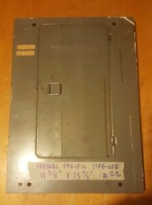 Fpe federal Pacific Electrical Box Circuit Breaker Panel Cover
