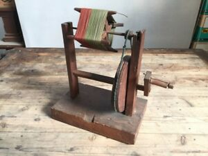 Antique Japanese Thread Winder Asian Craft Wood Yarn Old Japan 1900s H219