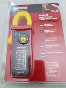 Amprobe Amp 25 Trms Mini Clamp Meter Pocket Size New