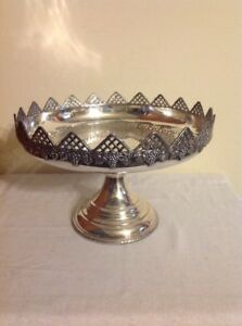 Sheffield Stainless Steel Cake Tray With Stand