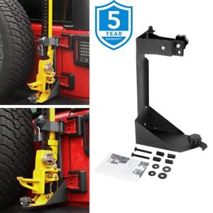 Replace Rear High Lift Hood Jack Mount Bracket Dot Approved For Jeep Wrangler Jk