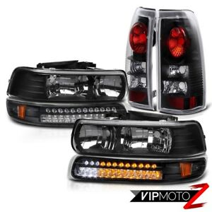 Gmt800 Chevy Silverado 1500 2500 Led Drl Signal Lamp Black Taillights Headlamps