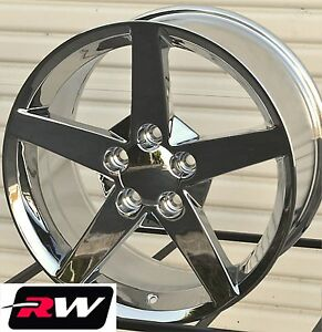 18 19 Inch Rw 5088 5106 Wheels For Chevy Corvette C5 1997 04 Chrome Rims Set