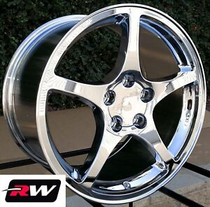 17 18 Inch Rw 5102 5104 Wheels For Chevy Corvette C5 1997 04 Chrome Rims Set