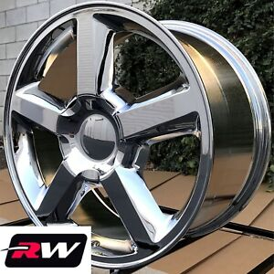 20 X8 5 Inch Rw 5308 Wheels Ltz For Chevy Truck Chrome Rims 6x139 7 6x5 50 Set