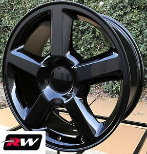 20 Inch Chevy Avalanche Ltz 5308 Factory Style Wheels Gloss Black Rims 6139 7