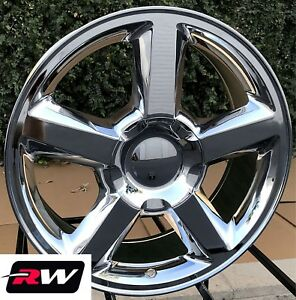 20 X8 5 Inch Chevy Truck Ltz Oe Replica Wheels Chrome Rims Fit Gmc Sierra