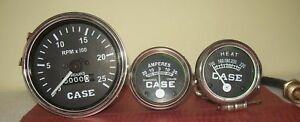 Case Tractor Temperature tachometer Ammeter Gauge Set