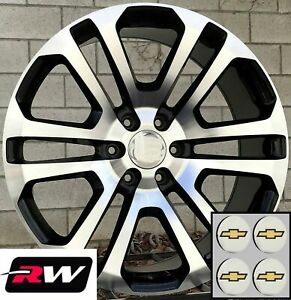 22 Inch Chevy Tahoe Ck158 Oe Replica Wheels Black Machined Rims 22 X9