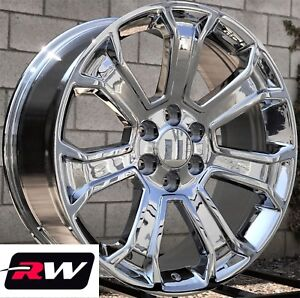 20 X9 Inch Rw 5665 Wheels For Chevy Truck Chrome Rims 6x139 7 6x5 50 24 Set