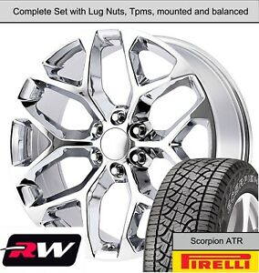 20 X9 Inch Wheels And A T Tires For Chevy Suburban Replica Ck156 Chrome Rims